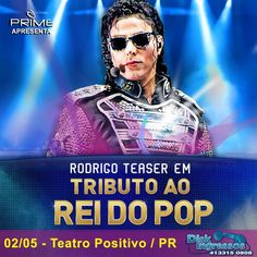 Rodrigo Teaser - Tributo Rei do Pop (participação LaVelle Smith Jr. Michael Jackson, Rodrigo Teaser, Pop, Movies, Movie Posters, Dreams, Bonito, Films, Popular