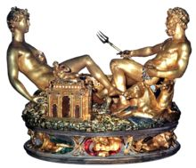 "Benvenuto Cellini's ""table salt"", extravagant invention and richness of materials overwhelm any practical use."