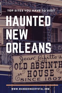The Top Haunted Places in New Orleans New Orleans is haunted and full of so many paranormal sites! Come see the best places to visit to find ghosts and spooky spirits in the French Quarter. Ghost Tours, History and Haunted Hotels - NOLA has it all! Us Travel Destinations, Best Places To Travel, Cool Places To Visit, Holiday Destinations, New Orleans Vacation, New Orleans Hotels, New Orleans Travel, Haunted Hotel, Haunted Places