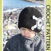 SKULL & BONES Beanie Hat Crochet Pattern - via @Craftsy
