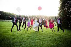 mariage domaine de la butte ronde, photo de groupe, photo fun mariage