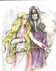 mythical+images | Idunn and Loki - Norse mythology Fan Art (25774382) - Fanpop fanclubs