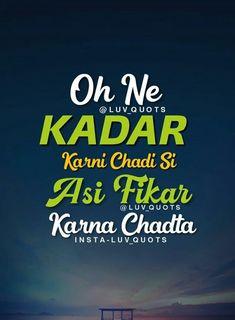 Oh ne kadar karni chadi si Asi fikar karna chadta Sikh Quotes, Gurbani Quotes, Desi Quotes, Mood Quotes, Attitude Quotes, Qoutes, Funky Quotes, Crazy Quotes, Besties Quotes