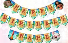 Your place to buy and sell all things handmade Moana Birthday Decorations, Moana Birthday Party Theme, Moana Decorations, Birthday Party Centerpieces, 3rd Birthday, Birthday Ideas, Moana Disney, Moana Party Supplies, 96 Hours