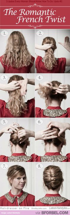 """The """"Romantic French Twist"""". Perfect For Date Night!"""
