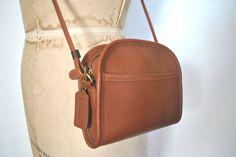 ABBIE Coach Brown Purse / Britsh Tan leather bag / Small by badbabyvintage on Etsy