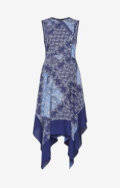 Designer Clothes, Shoes & Bags for Women Handkerchief Hem Dress, Batik Fashion, Funky Outfits, Batik Prints, Purple Dress, Dress P, Kebaya, Printed, Lady
