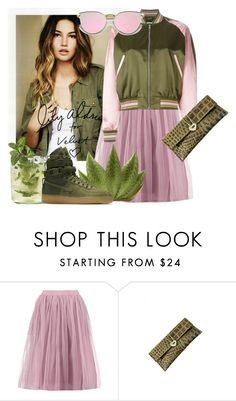 """Military green with pink baby details..love this combination"" by nanouyia ❤ liked on Polyvore featuring Boohoo and NIKE"