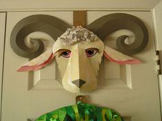 Make Fun Masks Out of Cardboard!: 7 Steps (with Pictures) Cardboard Mask, Diy Cardboard, Dinosaur Puppet, Goat Mask, Paper Mask, Face Masks For Kids, Kids Party Decorations, Carnival Masks, Diy Mask