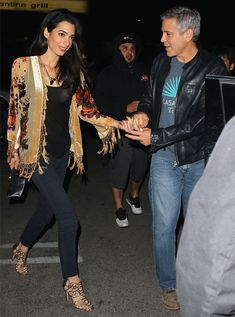 Street style de Amal e George Clooney.