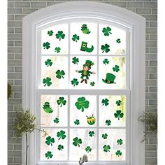 110 St Patrick's Day Shamrock Decorations - Window Clings Decal Stickers Party Ornaments ** Check this awesome product by going to the link at the image. (This is an affiliate link) Wall Stickers Murals, Wall Decals, St Patrick's Day Decorations, Window Clings, Pot Of Gold, Christmas Snowflakes, Creative Home, St Patricks Day