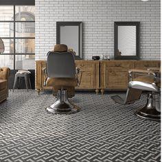 Ivy Hill Tile Anabella x Porcelain Patterned Wall & Floor Tile Stone Flooring, Kitchen Flooring, Barber Shop Interior, Barbershop Design, Barbershop Ideas, Patchwork Tiles, Tile Stores, Mediterranean Design, Wall And Floor Tiles