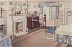 1914 Girl's Bedroom by American Vintage Home, via Flickr