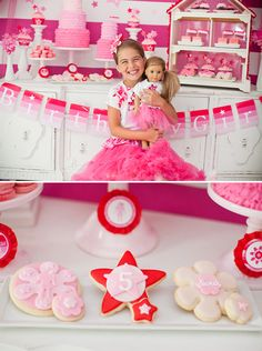 American Girl Doll Inspired Party {Pink & Ombre!} - way over the top, but there are a few cute, do-able ideas here