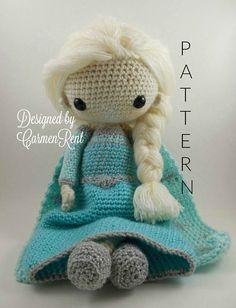 Elsa Amigurumi Doll Crochet Pattern PDF
