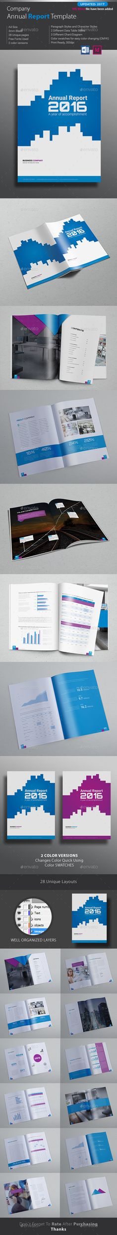 Annual Report Word - Corporate Brochures