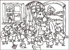 Maerchen Rumpelstilzchen | 10_Der_Wolf_und_die_7_Geissleinkl Colouring Pages, Coloring Sheets, Coloring Books, Wolf, Teaching Kindergarten, Preschool, Childrens Cupcakes, Fairy Tale Activities, Fairy Tales Unit
