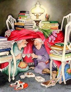 Ideas funny love illustration inge look Gif Animé, Norman Rockwell, Old Women, Old Ladies, Belle Photo, Book Lovers, Make Me Smile, Happy Smile, Happy Fun