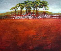 Beautiful paintings: Guardians of the knoll by Anna Mazek | Artfinder
