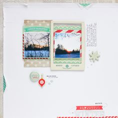 Janna Werner: winter scrapbooking layout for Crate Paper (Bundled Up collection)