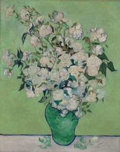 For more information on this painting, including technical information on color fading, see the exhibition page for Van Gogh: Irises and Roses Vincent Van Gogh, Vintage Wall Art, Vintage Walls, Van Gogh Pinturas, Oil On Canvas, Canvas Prints, Canvas Artwork, Time Painting, European Paintings