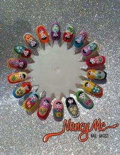 Mother Russia Inspired Nails....wish my nail lady could do this