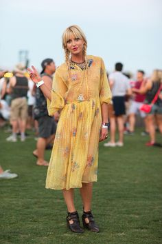 50+ Stylish Folks Who Rocked Coachella #refinery29  http://www.refinery29.com/coachella-style#slide23  Peace, love, and pigtails.