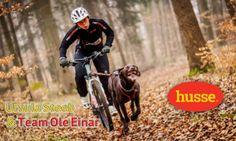 Ursula Steeb mit Ihrem Hunde Team Ole Einar rast in Schnepfenried Elssas allen davon, im Bikejöring und Scooter Rennen. Husse Racing Team.