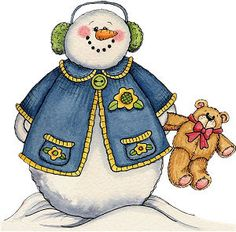*SNOWMAN ~ Mis Laminas para Decoupage