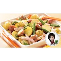 Salade-repas de pommes de terre grelots, de haricots et de jambon de Josée di Stasio