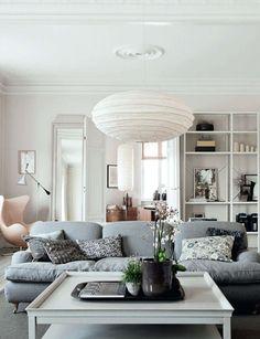Serene neutral apartment in Copenhagen © Heidi Lerkenfeldt for Elle Decor UK DREAM SOFA #livingroom