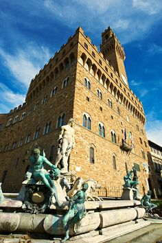 The Fountain of Neptune in front of the Palazzo Vecchio ~ Florence, Italy