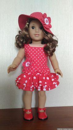"Обновки для Американ гел / 18"" твердонабивные куклы — American girl, Journey girls,Our Generation и аналоги / Бэйбики. Куклы фото. Одежда для кукол American Girl, Kids Frocks, Baby Knitting Patterns, Girl Dolls, Doll Clothes, Flower Girl Dresses, Journey, Doll Outfits, Summer Dresses"