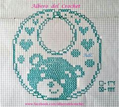 Best 12 1 ball white Tortiglia cotton nr 40 and scheme on squared paper to realize the bibs with crochet filet hearts, little Crochet Baby Bibs, Crochet Baby Dress Pattern, Bib Pattern, Crochet Baby Booties, Crochet Patterns, Knitting For Kids, Baby Knitting, Dyi Baby Gifts, Baby Bibs Patterns