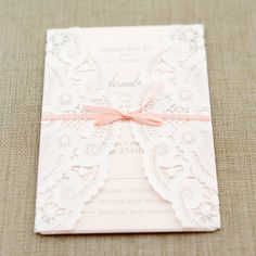 Lace Inspired Invitation Suite | hi note