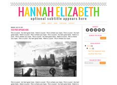 Premade Blogger Template Theme Blog Design  by KreatedByKelsey1, $28.00