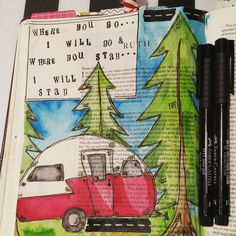 Bible journaling {journey camper Ruth} Peonies and Paper Shop #journeykit