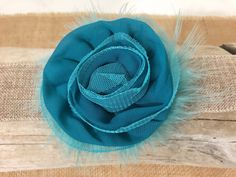 Teal Hair Clip, Teal Flower Clip, Holiday Clip, Flower Girl Clip, Teal Rose Clip, Teal Bow for Girl, Portrait photo Hair Bow, Christmas clip by FancyGirlBoutiqueNYC on Etsy