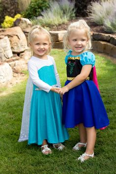57 Perfect Kids' Halloween Costume Ideas For BFFs Elsa and Anna Frozen Costumes Elsa and Anna Costumes ($46)