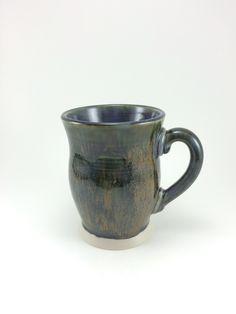 Wheelthrown mug with Incredible Black glaze
