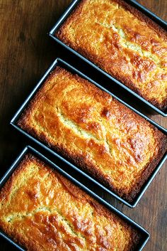 lemon ricotta pound cake loaves