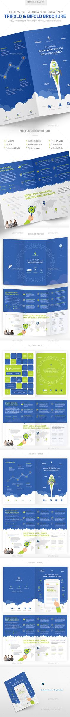 Digital Marketing & Advertising Agency Brochure Print Template InDesign INDD, Vector EPS, Vector AI. Download here: http://graphicriver.net/item/digital-marketing-advertising-agency-brochure/11828361?s_rank=21&ref=yinkira