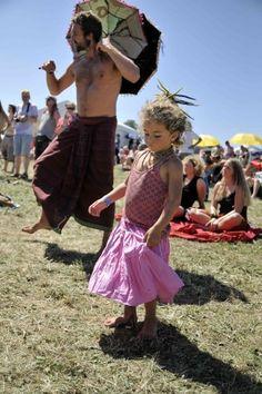 Burg Herzberg Festival in Germany - little girl with dreads