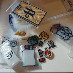 Geeky hand made cross stitch accessories by ChipsStitches Pokemon Alpha, Alpha Patterns, Plastic Canvas, Cross Stitching, Etsy Store, Cross Stitch Patterns, Etsy Seller, Crafting, Gift Wrapping