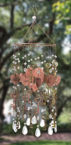 lovely junk inspired garden wind chime