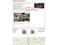 Eine Kontaktseite von Urlaub99Euro.de mit aktuellem Tweet. (Enhancing tourism marketing with advanced web design and social media | LinkedIn)
