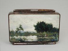 Jardinière with landscape I Emile Justin Merlot I 1880