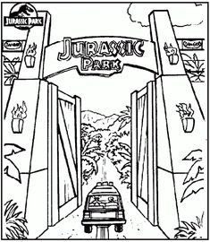 Free Pintable Big Dinosaur T Rex Jurassic Park Coloring Pages Adults