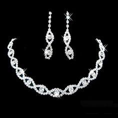Cheap earrings letter, Buy Quality earrings india directly from China necklace natural Suppliers: Bridal Wedding Prom Jewelry Crystal Rhinestone Diamante Necklace & Earring Set Women's Jewelry Sets, Prom Jewelry, Wedding Jewelry Sets, Jewelry Party, Heart Jewelry, Women Jewelry, Costume Jewelry, Jewelry Necklaces, Dainty Jewelry
