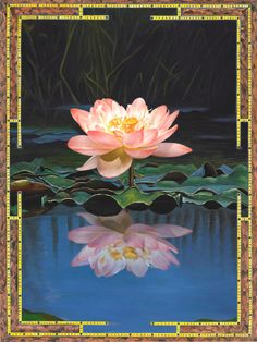 You'll find this lovely 'Pink/White Lotus' painting under the Nature Mandalas section on Paul Heussenstamm's website. Beautiful when seen up close, this image will also make a stunning impression, when viewed from across the room.